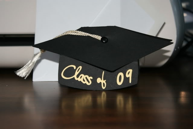 Graduation Cap Card On Wild Card Cricut Cartridge Amp Some