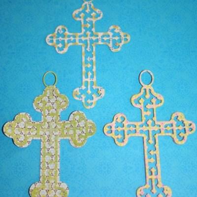 Cricut Easter Cross with Hanger