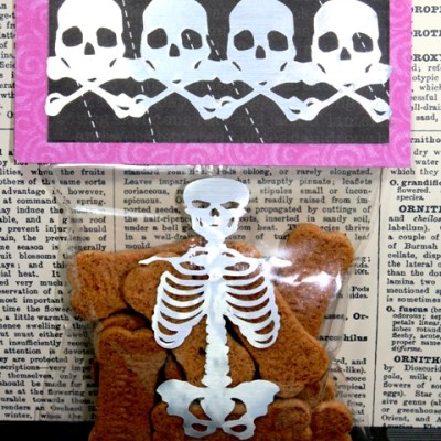 Cricut Gypsy Wanderings Skeleton Bones Treat Bag