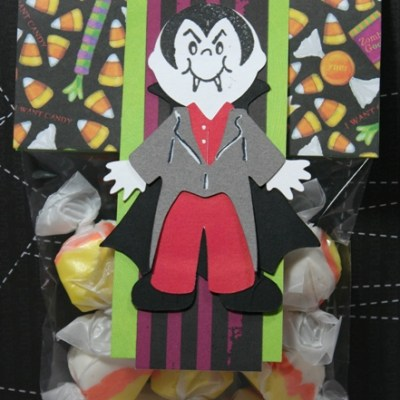 Cricut Paper Doll Dress Up Vampire Candy Bag