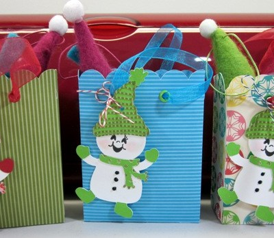 Cricut Snowman Gift Bags 12 Days of Christmas DAY SIX GIVE AWAY