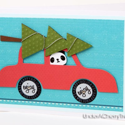 Panda Bear Card with All Around Sentiments Stamps