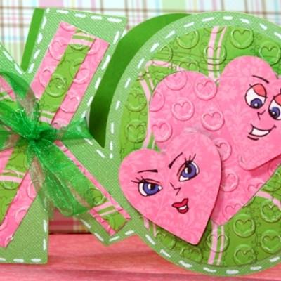 Peachy Keen Guest Designer XO Valentine Gyspy Smiley Cards