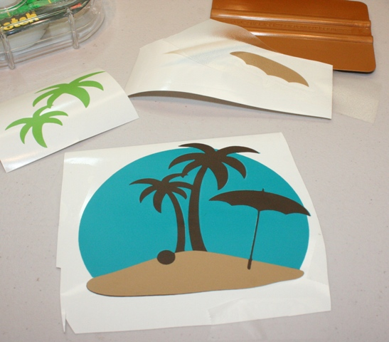 Cricut Vinyl Beach Scene From The Formal Occasions