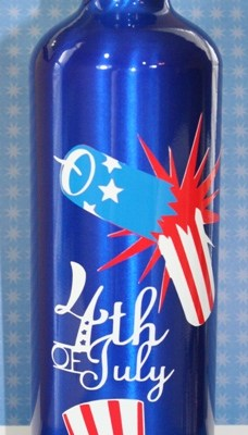 Cricut Independence Day Vinyl Water Bottle 4th of July