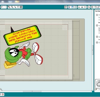 Square1 Printable Adhesive Fabric Marvin the Martian Laptop using Silhouette SD + GIVE AWAY