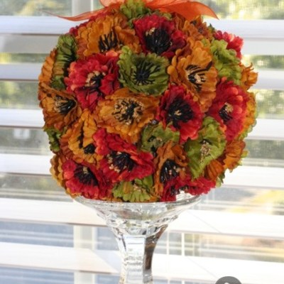 How to Make a Home Decor Flower Ball
