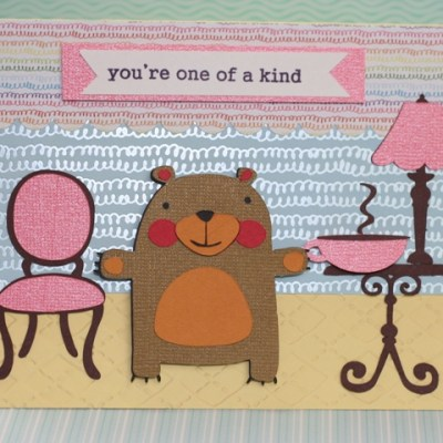 Bear Card with KNK Zing, Lettering Delights & Make the Cut