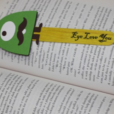 Cricut Bump in the Night Monster Bookmark