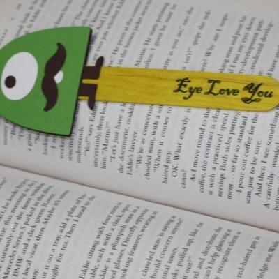 Cricut Bump in the Night Monster Bookmark