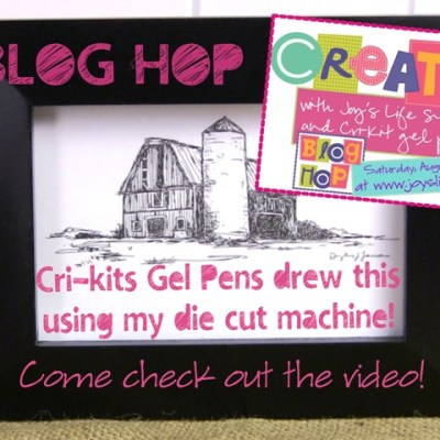 Cri-kit Gel Pen Blog Hop – Barn Framed Drawing