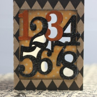 Easy and Versatile Numbers Card for Halloween or Birthday