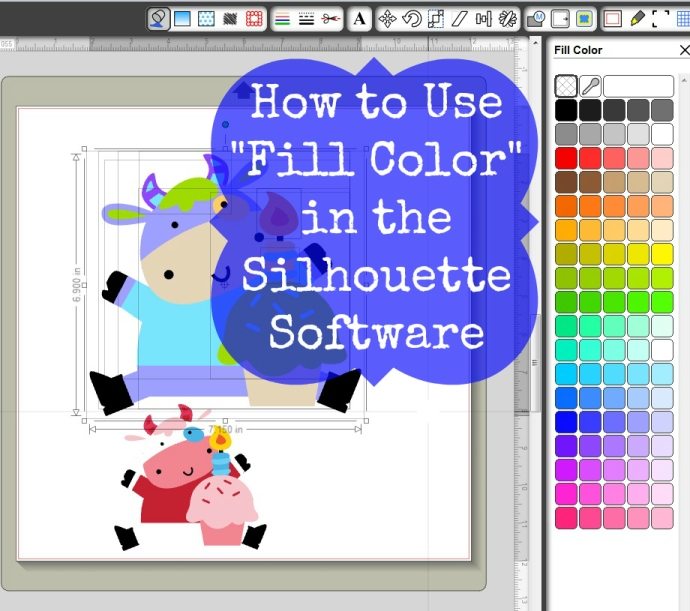 How To Use Fill Color In The Silhouette Software