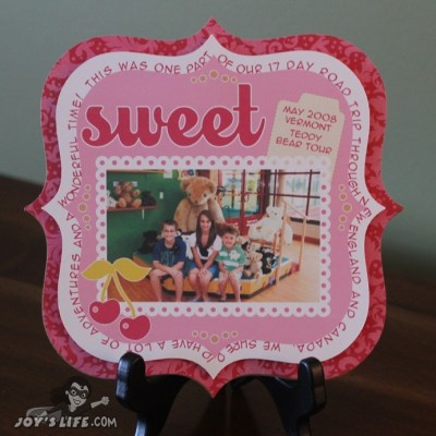 Silhouette Sweet Scrapbook Layout Photo Display – Lori Whitlock Design Team Post