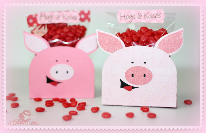 Hogs And Kisses 3D Pig Candy Holders U2013 Lettering Delights