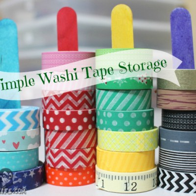 Craft Stick Washi Tape Holder