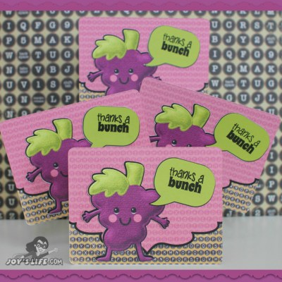 Thanks a Bunch Grape Card with New Joy's Life Stamps