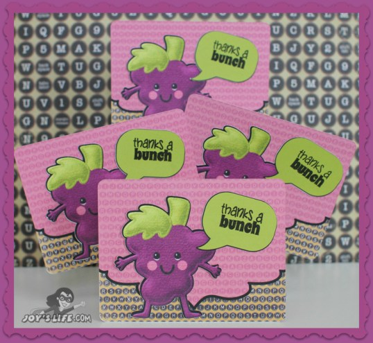 Grape Thank You Card using NEW Joy's Life Stamps www.joyslife.com