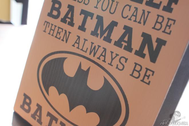 Wooden Painted Batman sign at www.joyslife.com
