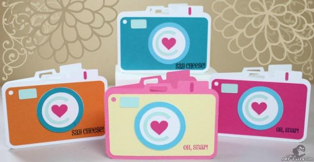 Camera card using Joy's Life Stamps at www.joyslife.com