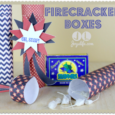 Red White & Blue Blog Hop Firecracker Boxes