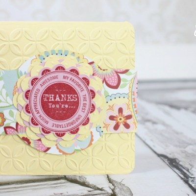 Thank You Card with Cricut Artiste