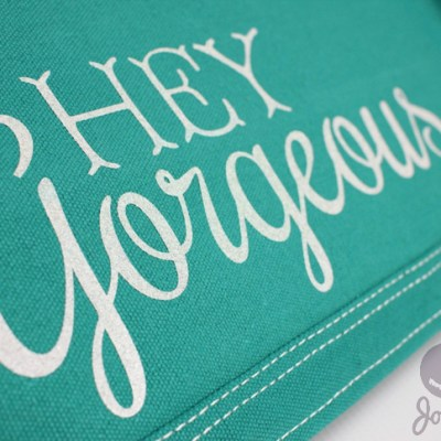 Hey Gorgeous Silhouette Cameo Vinyl Iron On Dust Cover