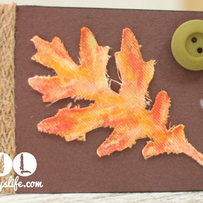 Fall Leaf Thanksgiving Place Card – Faber Castell Design Memory Craft Team Post