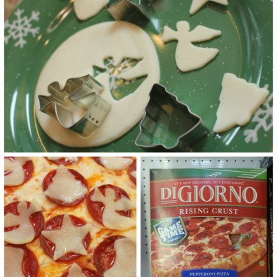 Holiday Decorated Digiorno Pizza #PlanAhead #shop #cbias