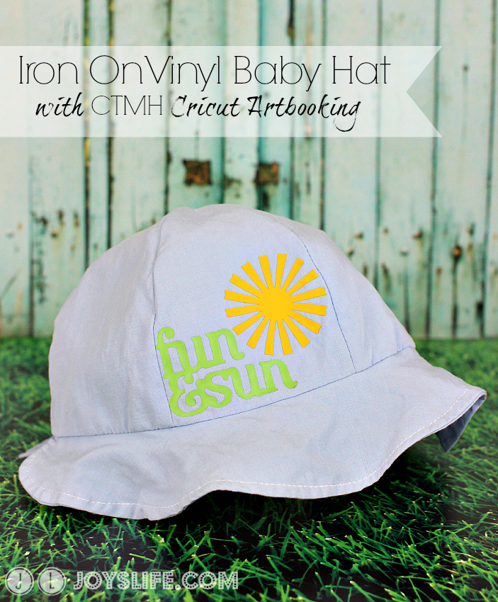Iron On Vinyl Baby Hat With Ctmh Cricut Artbooking Joy S