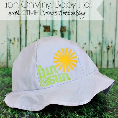 Heat transfer Iron On vinyl baby hat with Cricut Artbooking