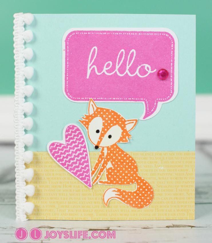 Hello Fox Card with Cricut CTMH Art Philosophy and Artiste + My Card Mistakes and Fixes #Cricut #CTMH #fox #card