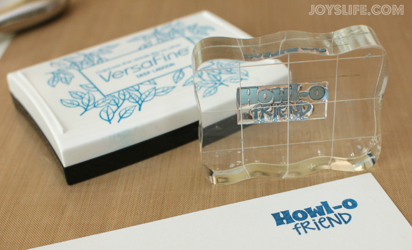 Howl-O Friend Puppy Gift Tag #GiftTag #crafts #trendyTwine #joyslifestamps #EnglishMastiff