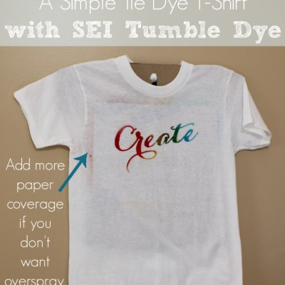 Create: A Simple Tie Dye T-Shirt with SEI Tumble Dye