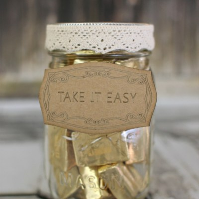 Take It Easy Candy Mason Jar with SEI