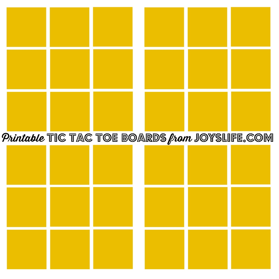 Printable Tic Tac Toe Boards #PrepWithPower #CollectiveBias #shop