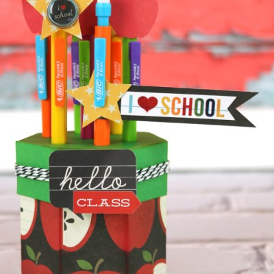 Back to School with BIC 3D Cardstock Pencil Holder
