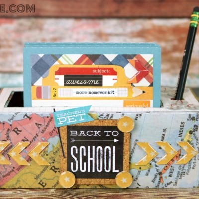 Back to School Note Holder Teacher Gift with Epiphany Crafts