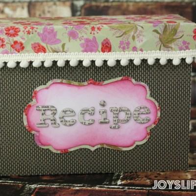 Paper Recipe Box with SEI
