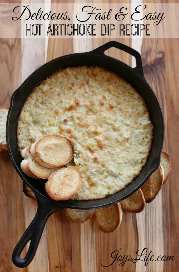 Fast Easy Hot Artichoke Dip Recipe