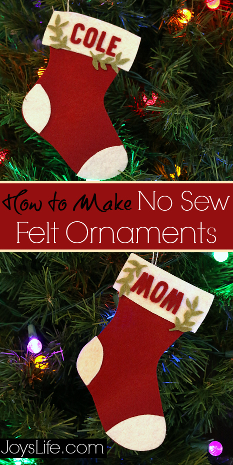 How To Make No Sew Felt Ornaments CutNBoss Craftwell Christmas NoSew