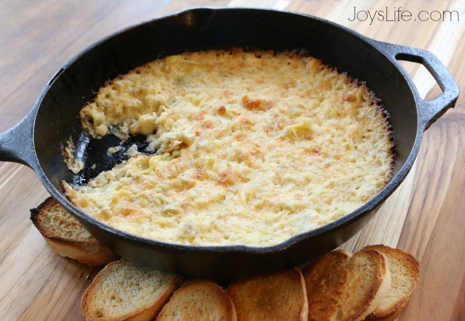 Delicious, Fast & Easy Hot Artichoke Dip Recipe #MustHaveMayo #ad #recipe