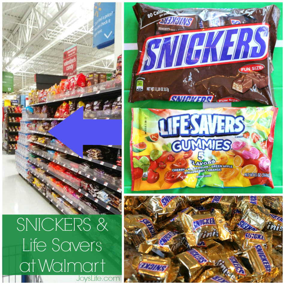 Snickers and Lifesavers at WalMart #BigGameTreats #Ad