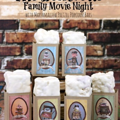 The Boxtrolls Family Movie Night & Marshmallow Pretzel Popcorn Bars Recipe