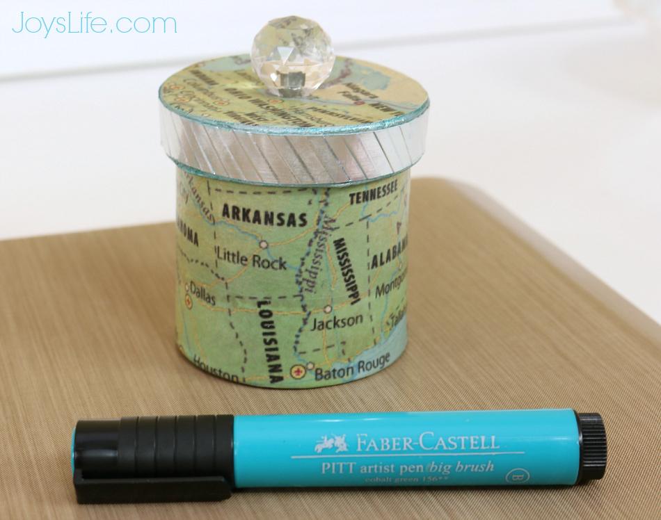 Using Faber Castell Big Brush Pen Over FolkArt Metallic Paint