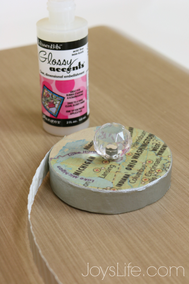 Using Glossy Accents as Adhesive Glue