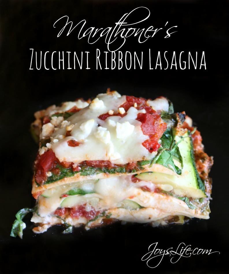 Marathoners zucchini ribbon lasagna joys life marathoners zucchini ribbon lasagna allwhiteseggwhites recipe lasagna forumfinder Choice Image