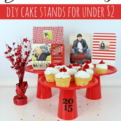 Graduation Party DIY Cake Stands for Under $2