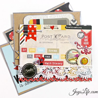 Post Card Envelope Mini Album