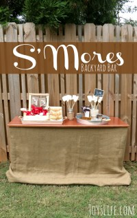 S'mores Party Backyard Bar | Joy's Life